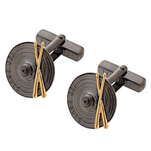 Buy Ted Baker Drumcuf Drum Cufflinks, Gunmetal Online at johnlewis.com