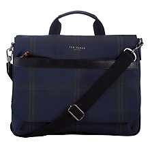Buy Ted Baker Kresent Nylon Messenger Bag, Navy Online at johnlewis.com