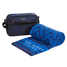 Buy Ted Baker Rexfort Wash Bag & Towel, Navy Online at johnlewis.com