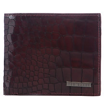 Buy Ted Baker Craykay Croc Wallet, Oxblood Online at johnlewis.com