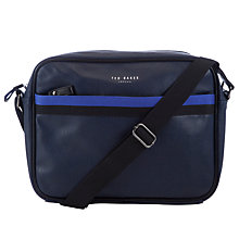 Buy Ted Baker Contrast Trim Despatch Bag, Navy Online at johnlewis.com