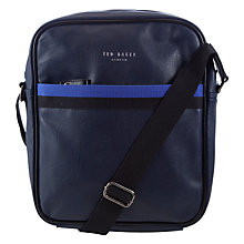 Buy Ted Baker Halfsea Web Flight Bag, Navy Online at johnlewis.com