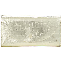 Buy COLLECTION by John Lewis Lisa Fold Over Purse, Gold Online at johnlewis.com