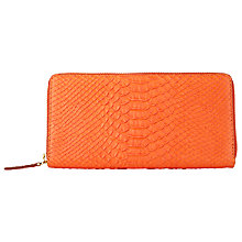 Buy COLLECTION by John Lewis Hayley Zip Around Purse, Orange Online at johnlewis.com