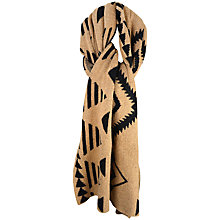 Buy Paisie Aztec Print Poncho Scarf, Caramel & Black Online at johnlewis.com