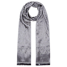 Buy Planet Animal Jacquard Scarf, Grey Online at johnlewis.com