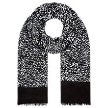 Buy Planet Speckled Border Print Scarf, Black Online at johnlewis.com