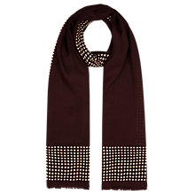 Buy Planet Oversized Spotted Scarf, Claret/Ivory Online at johnlewis.com