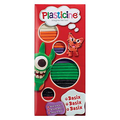 Plasticine Basix Coloured Modelling Clay, Assorted