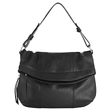 Buy Oasis Saskia Foldover Satchel Bag, Black Online at johnlewis.com