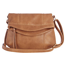 Buy Oasis Saskia Foldover Cross Body Bag, Tan Online at johnlewis.com