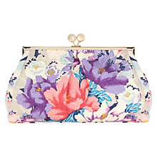 Buy Oasis Gardenia Printed Clutch Bag, Multi Online at johnlewis.com