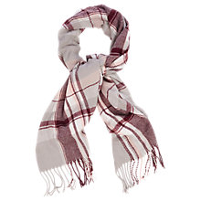 Buy Oasis Check Scarf, Multi Pink Online at johnlewis.com