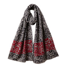 Buy East Rosy Embroidered Wool Scarf, Black Online at johnlewis.com
