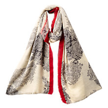 Buy East Raghu Silk Blend Scarf, Pebble Online at johnlewis.com