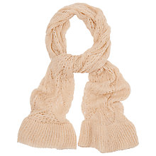 Buy Phase Eight Polly Pointelle Scarf, Almond Online at johnlewis.com