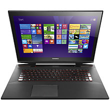 "Buy Lenovo Y70-70 Laptop, Intel Core i7, 16GB RAM, 1TB + 8GB SSHD, 17.3"" Touch Screen, Black Online at johnlewis.com"