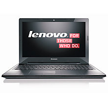 "Buy Lenovo Z50-75 Laptop, AMD FX, 8GB RAM, 1TB + 8GB SSHD, R7 M260 2GB Graphics, 15.6"" FHD Online at johnlewis.com"