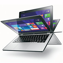 "Buy Lenovo Yoga 2 11"" Convertible Laptop, Intel Core i3, 4GB RAM, 500GB + 8GB SSHD, 11.6"" Touch Screen Online at johnlewis.com"