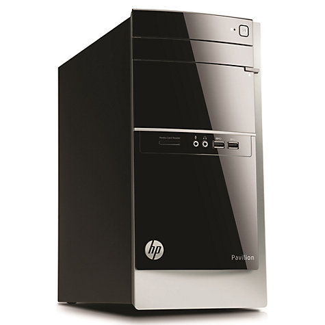 Buy HP Pavilion 500-400na Desktop PC, AMD A10, 6GB RAM, 2TB, Black ...