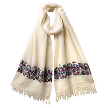 Buy East Nomi Embroidered Scarf, Pearl Online at johnlewis.com