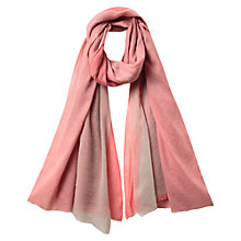 Buy East Fine Wool Tri Scarf, Blush Online at johnlewis.com