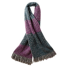 Buy East Brushed Autumn Mist Scarf, Ash Online at johnlewis.com