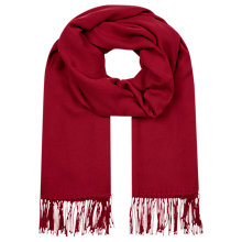 Buy Planet Plain Pashmina, Red Online at johnlewis.com