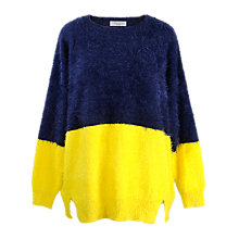 Buy Paisie Two Tone Jumper, Navy/Yellow Online at johnlewis.com