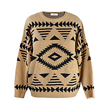 Buy Paisie Aztec Jumper, Caramel / Black Online at johnlewis.com