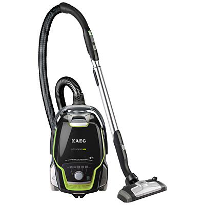 AEG UltraOne Green Cylinder Vacuum Cleaner, Satin Black