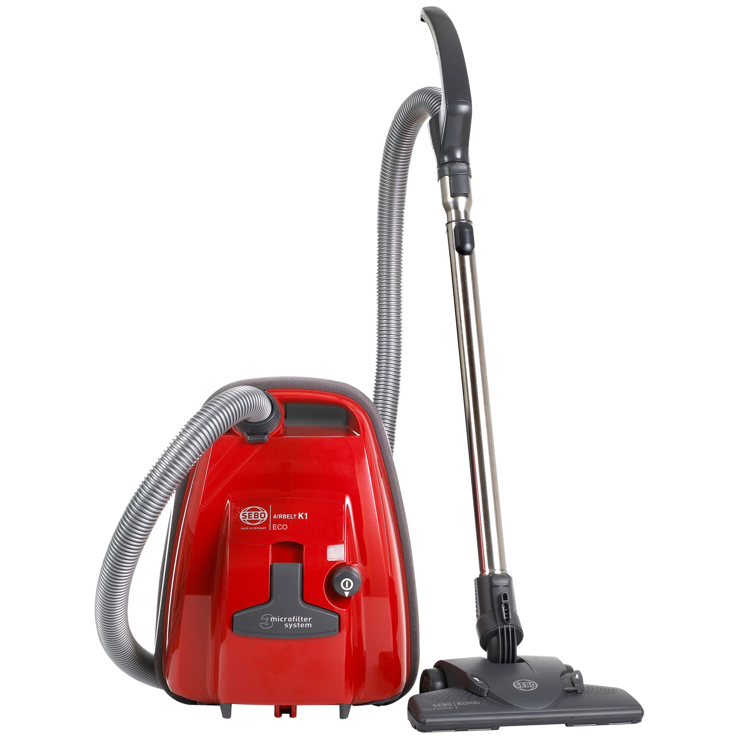 Sebo Sebo K1 Eco Cylinder Vacuum Cleaner, Red