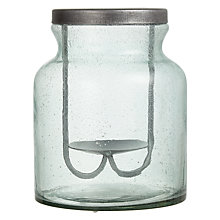 Buy John Lewis Croft Collection Recycled Glass Candle Holder, Medium Online at johnlewis.com