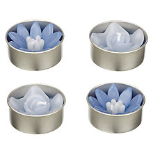 Buy Blooming Bliss Rose Tealights, Set of 4, Blue Online at johnlewis.com