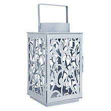 Buy John Lewis Fleur Lantern, Medium, Pacific Online at johnlewis.com
