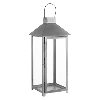 John Lewis Croft Collection Galvanised Lantern, Large