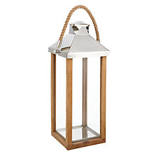 Buy Libra Cowes Wooden Lantern, Small Online at johnlewis.com
