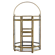 Buy John Lewis Gold Trim Glass Candle Holder Online at johnlewis.com