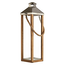 Buy Libra Cowes Wooden Lantern, Large Online at johnlewis.com