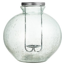 Buy John Lewis Croft Collection Recycled Glass Candle Holder, Round Online at johnlewis.com