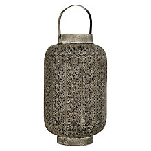 Buy John Lewis Filigree Hurricane Candle Holder, Medium Online at johnlewis.com