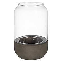 Buy John Lewis Concrete Base Hurricane Candle Holder, Medium Online at johnlewis.com