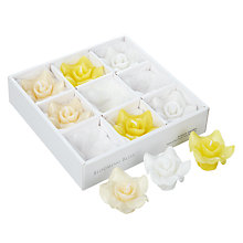 Buy Blooming Bliss Floating Rose Candles, Set of 9, Yellow Online at johnlewis.com