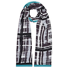 Buy Windsmoor Check Print Scarf, Grey Online at johnlewis.com