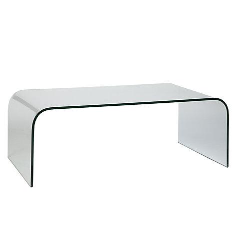 Buy greenapple arc glass coffee table john lewis for Coffee tables john lewis