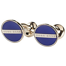 Buy BOSS Norberto Cufflnks, Dark Blue Online at johnlewis.com