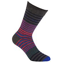Buy Ted Baker Richlee Stripe Socks, One Size, Charcoal/Multi Online at johnlewis.com