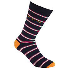 Buy Ted Baker Bestow Striped Socks, One Size, Navy Online at johnlewis.com