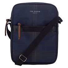 Buy Ted Baker Roxbery Small Flight Bag, Navy Online at johnlewis.com