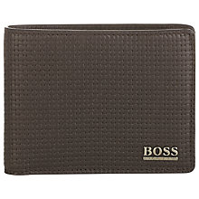 Buy BOSS Ramm Leather Wallet, Black Online at johnlewis.com